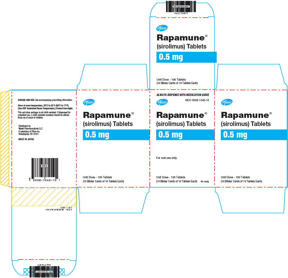 PRINCIPAL DISPLAY PANEL - 0.5 mg Tablet Blister Card Carton